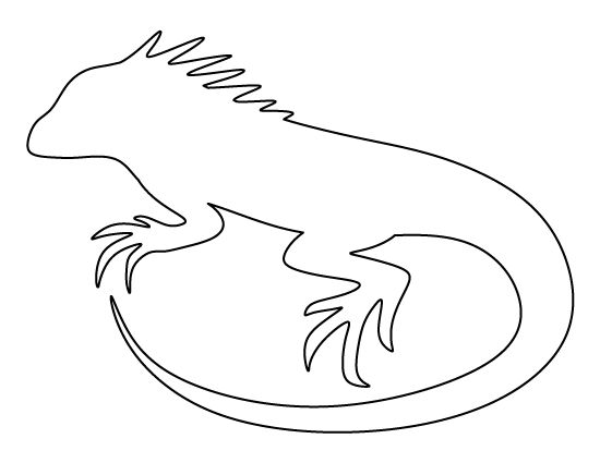 Iguana pattern. Use the printable outline for crafts ...