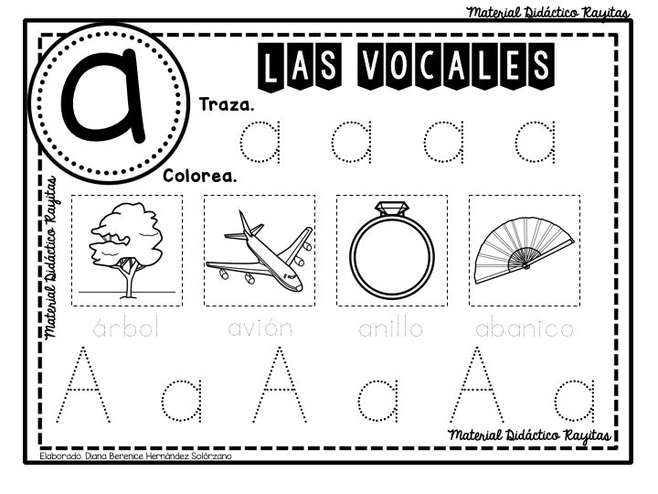 De Material Didáctico Rayitas les compartimos este Fabuloso cuadernillo de actividades para enseñar y aprender las vocales que todo docente