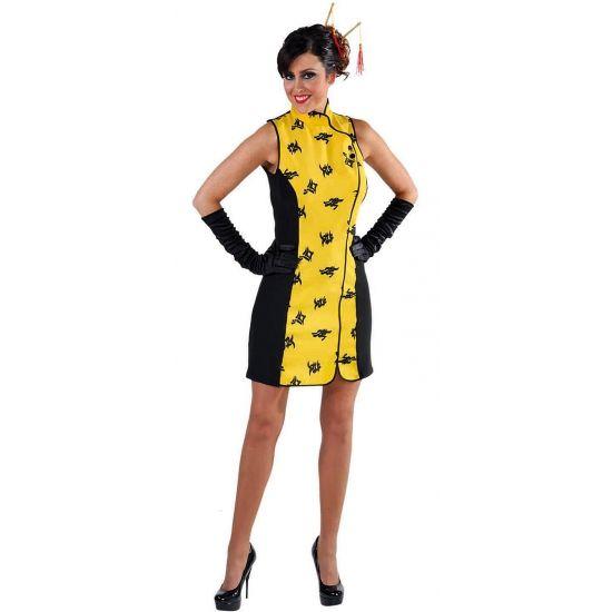 Chinees sexy jurkje voor dames. Dit sexy Chinese verkleed jurkje voor dames is exclusief accessoires. Materiaal: 100% polyester.
