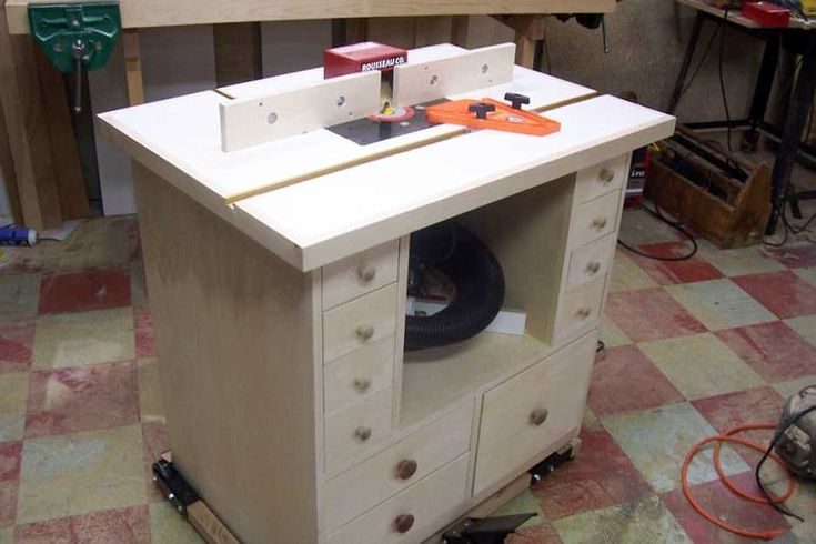 Router table project shows you in detail how to build a table for your router. E… – woodworking