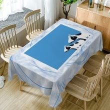 Dairy Cattle Print Waterproof Dining Table Cloth