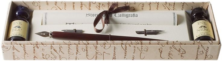 Coles Kalligraphie-Set mit Federhalter aus Holz, 3 Schreibfedern und 2 Tintenfässern: Amazon.de: Bürobedarf & Schreibwaren