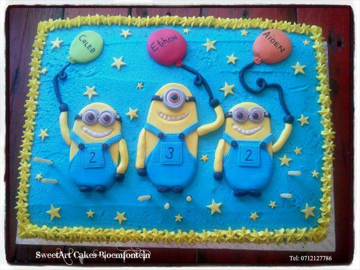 Minion Sheet Cake For more info & orders, email sweetartbfn@gmail.com or call 0712127786