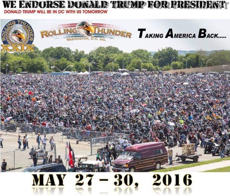 THANK YOU TO ALL BIKERS WHO WANT TO MAKE OUR COUNTRY GREAT AGAIN ON THIS MEMORIAL DAY 2016!