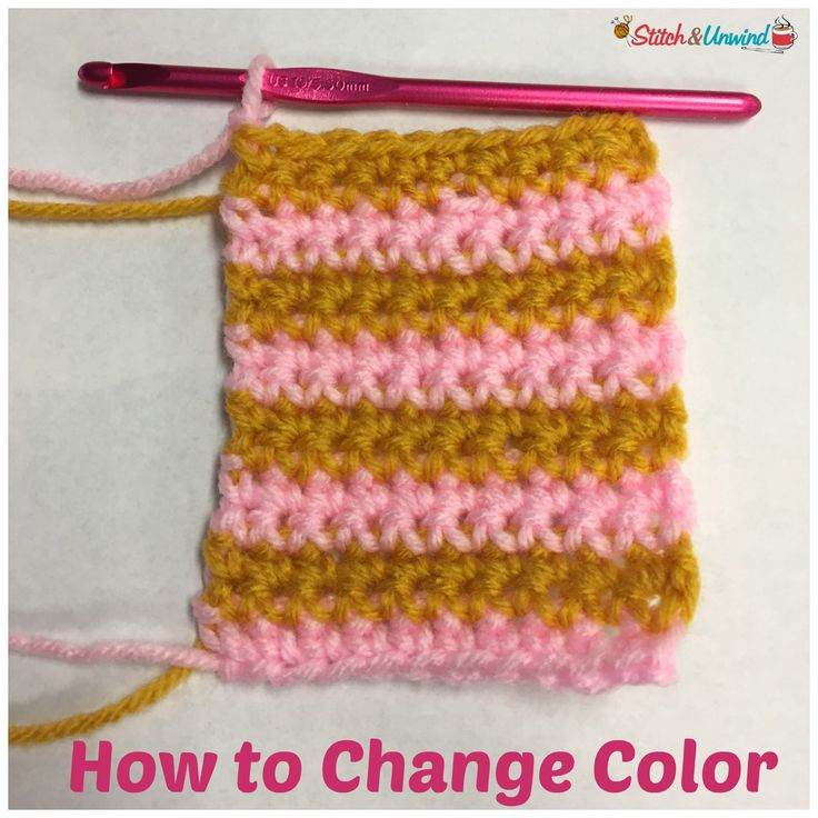 Crocheting How To Change Colors : how to change color at the end of a row as well as how to carry colors ...