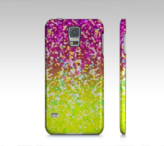 Samsung Galaxy S5 Glitter Graphic G13 #ArtofWhere #Samsung #Galaxy #S5 #Glitter #Graphic #yellow #pink http://artofwhere.com/shop/product/40932