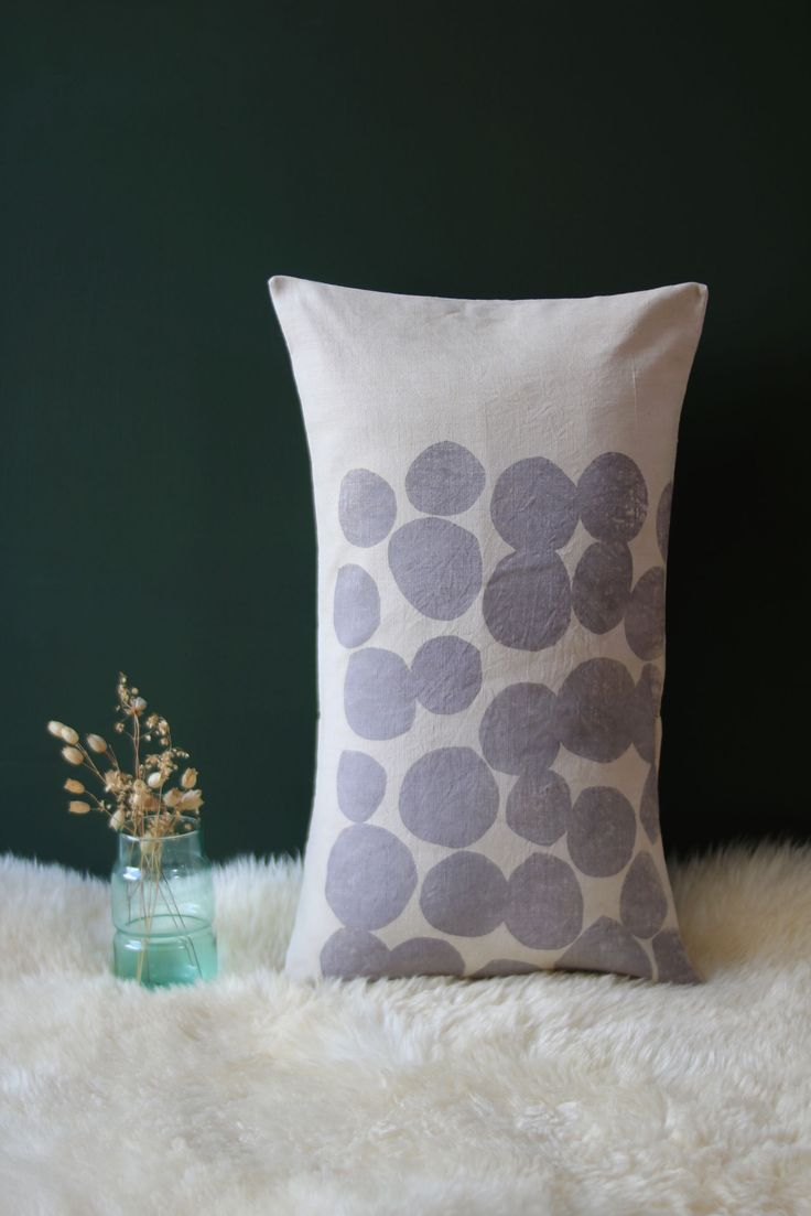 The product Coussin en teinture végétale 30 X 50 cm is sold by Sophie Morille in our Tictail store. (Sumac)  Tictail lets you create a beautiful online store for free - tictail.com