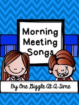 Start your day off right with these fun Morning Meeting songs!7 songs included