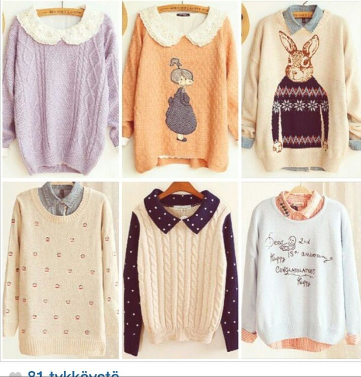 korean fashion cute sweatshirts - Google Search