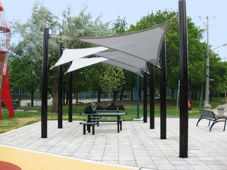 Backyard Patio Ideas : Patio Shade Beautiful Sail Cloth Patio Shades And  Mounted On Fibreglass Columns Pillars With Black Pearl Metallic Paint Alsou2026