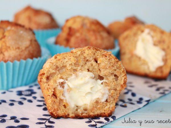 Receta Muffins de zanahoria rellenos de queso, para Mam07 - Petitchef