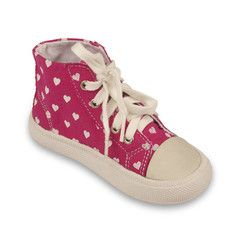 With white hearts sprinkled on a pink background, these canvas shoes are truly Heaven Sent. Canvas upper/lining and non-leather sole. Heaven Sent (Pink/White) Canvas Shoe