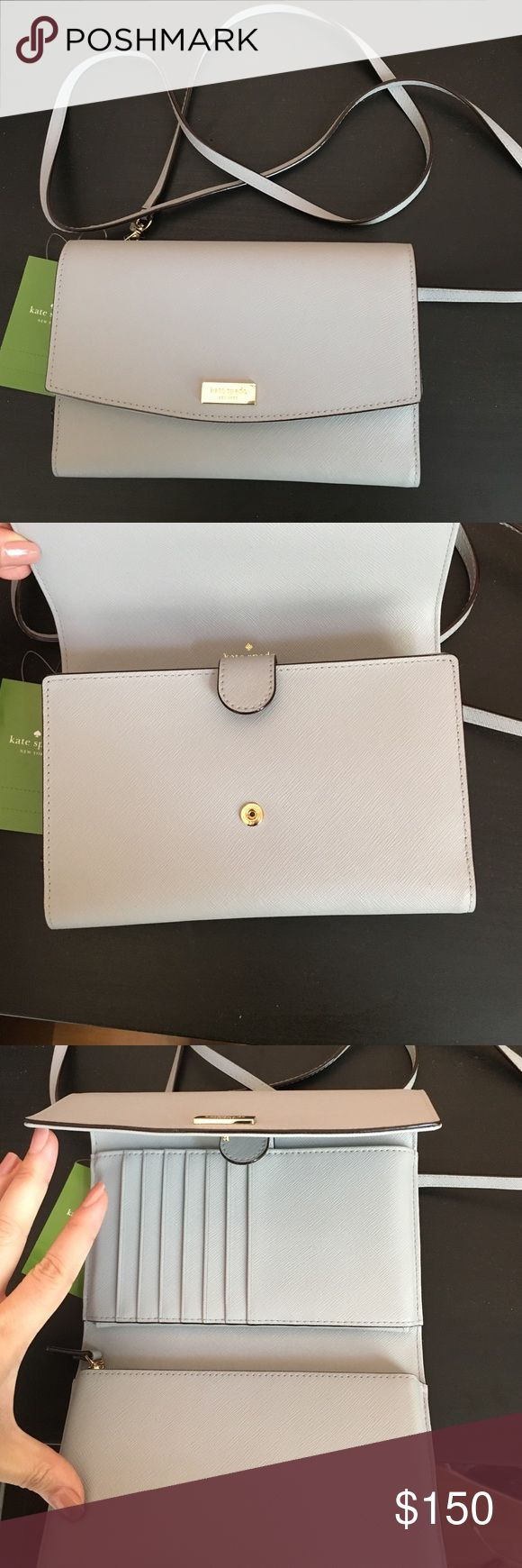 Kate Spade crossbody wallet Many compartments, zip compartment, card slots, removable strap kate spade Bags