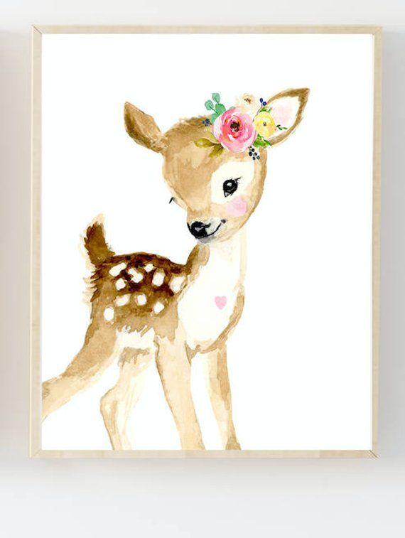 Nursery woodland Print Set 4, Neutral Nursery Art , Nursery Decor, Kids Wall Art, nursery art,squirrel,rabbit painting, woodland nursery