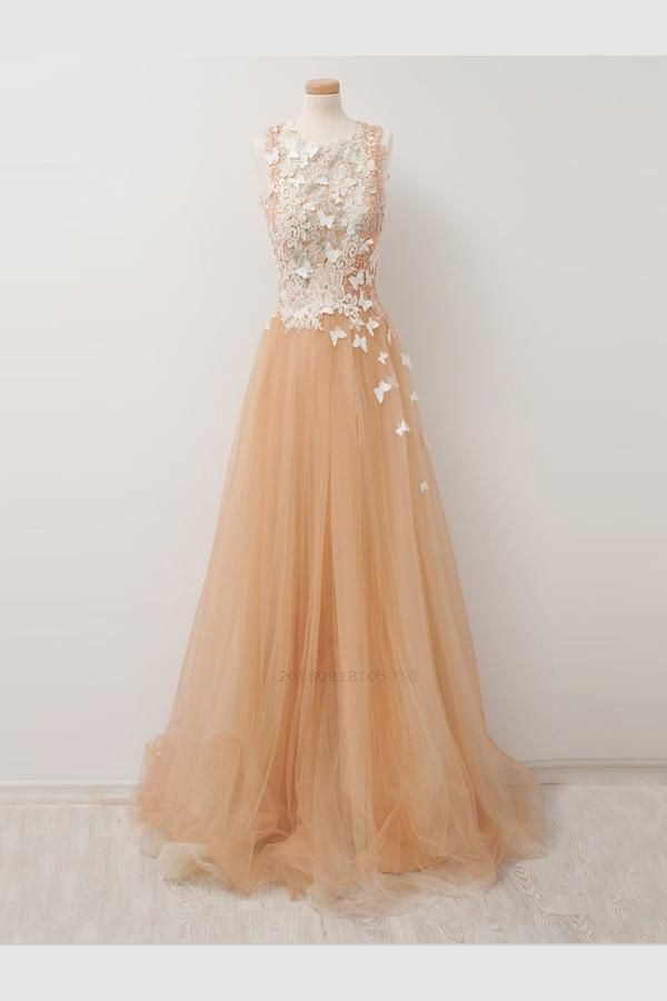 Hot Sale Outstanding Champagne Prom Dress b96dee12f