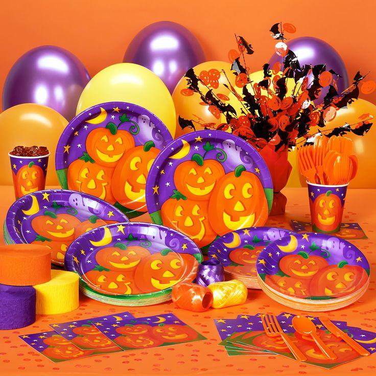 pumpkin cheer halloween deluxe party pack for 50