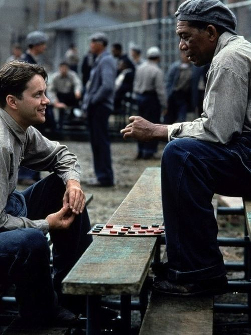 Tim Robbins & Morgan Freeman in The Shawshank Redemption