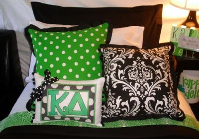 Cute Pillows For Dorm Rooms : kappa delta dorm Sorority House Bedding and Decor Pinterest Cute pillows, I love and Kappa ...