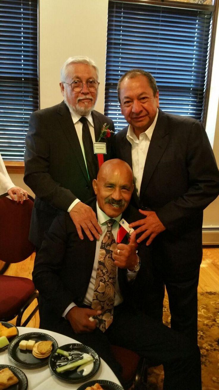 Rafael Mendoza, Alberto Reyes y Lupe Pintor, Hall of Fame 2016. #HallOfFame #CletoReyes #LupePintor #boxing