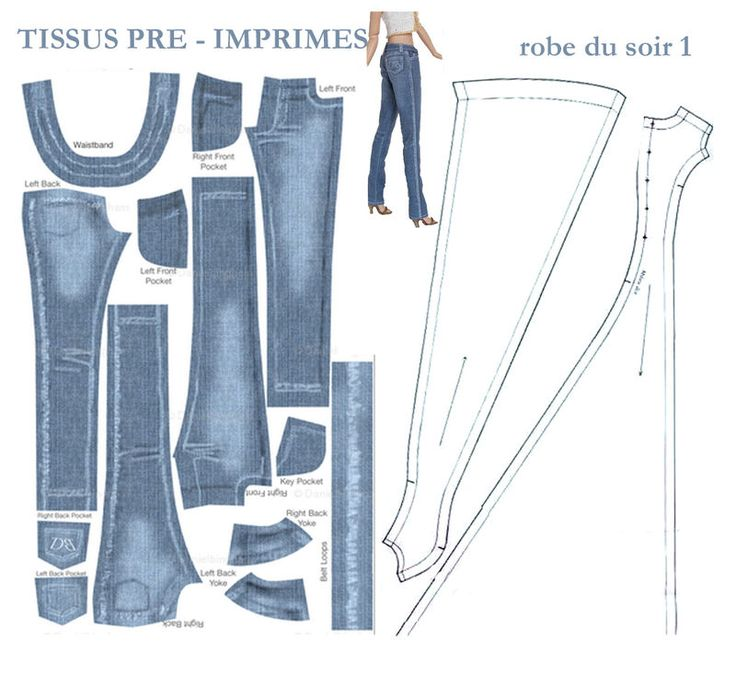 барби джинсы из для выкройки