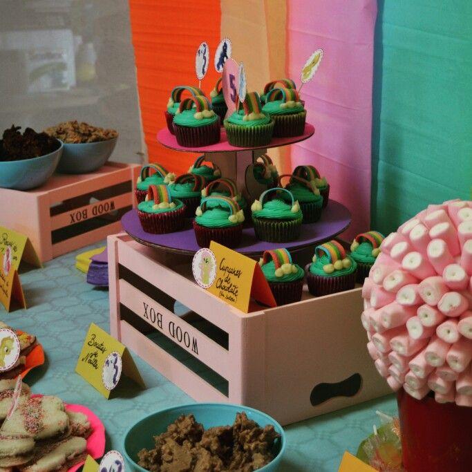 Cupcakes arcoíris #fiestamylittlepony #mylittleponyparty en Live a Dream