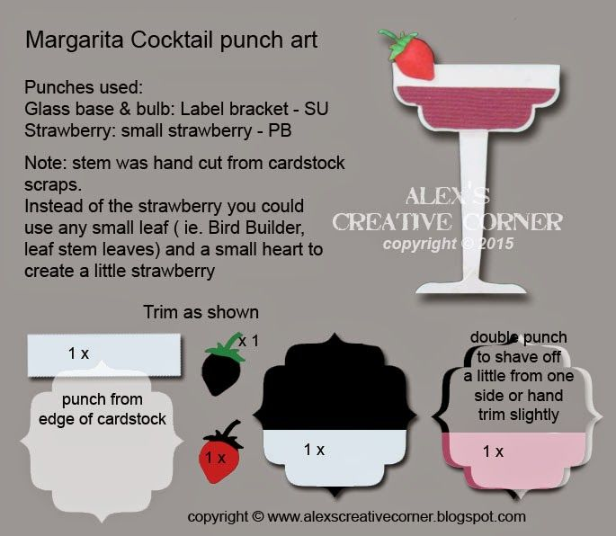 Alex's Creative Corner: Margarita cocktail punch art instructions