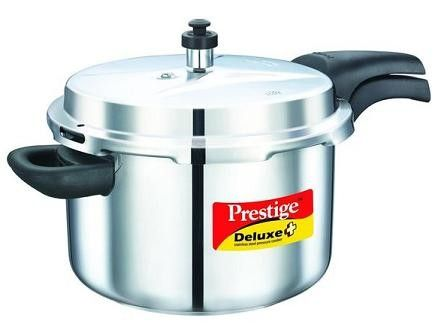 Magickart offer to sell online branded Prestige Deluxe Plus Stainless Steel Pressure Cooker 8 Lt with free shipping in India at Rs.2,965/-