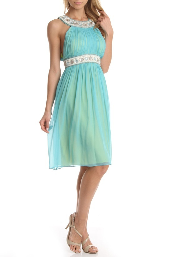 Think I Could Pull This Off With The Write Heelake Up Issue Ny Grecian Gown In Turquoise Beyond Rack