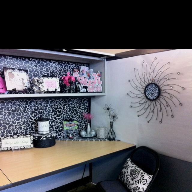Classy Office Wall Decor : Cubicle elegant like the wall art and laugh font