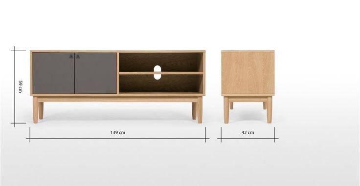 Campton, meuble TV compact, chêne | made.com