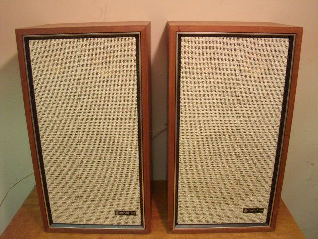 Vintage Criterion Bookshelf Speakers 100b 3 Way Reference Hifi Audio Wood Boxes