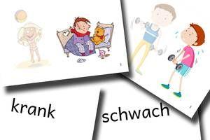 DaZ Material Grundschule - Bildkarten Adjektive
