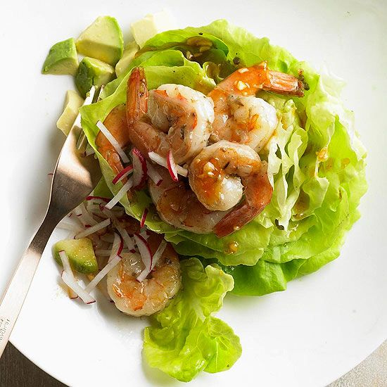 Seared Shrimp Salad with Wok Dressing - Healthy and delicious! Check ...