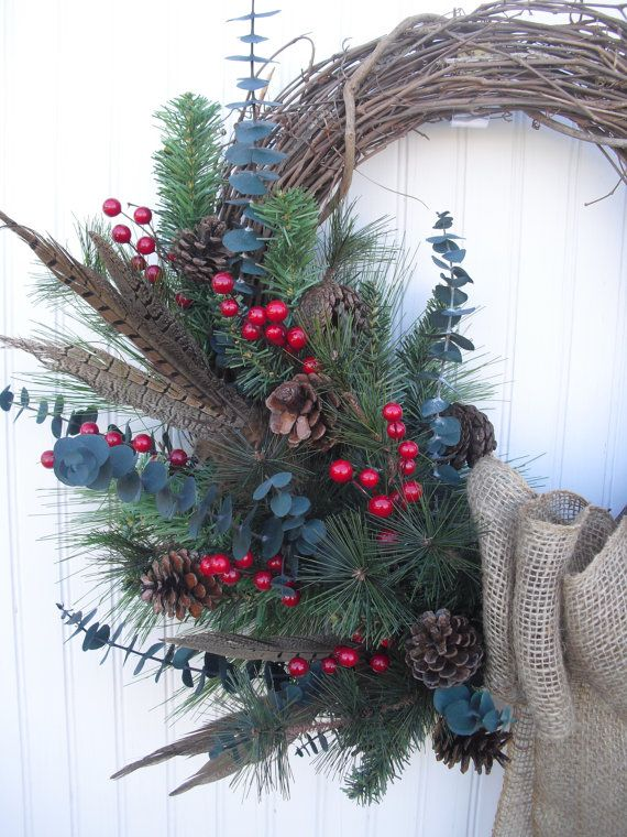 49 Best Natural Christmas Wreaths Images On Pinterest