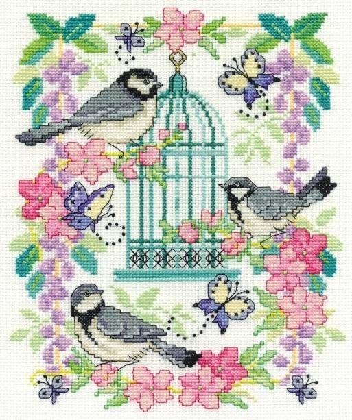 Oriental Birdcage Cross Stitch Kit - £22.50 on Past Impressions | by DMC