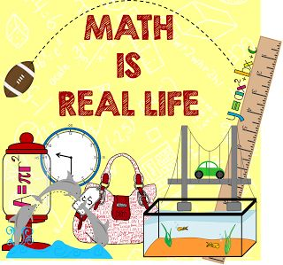 Math Is Real Life Linky!  Using real world situations in math.