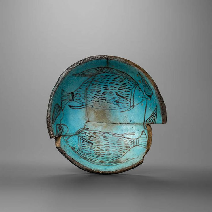 Egyptian Faience Bowl with Fish #aboutaam #phoenix #art