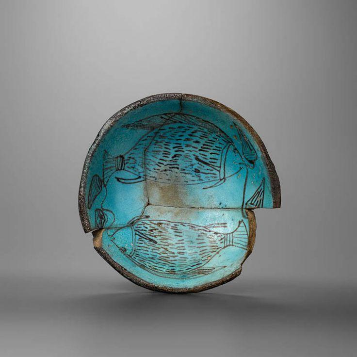 Egyptian Revival Figural Cloisonne Bowl For Sale at 1stdibs |Egyption Bowls