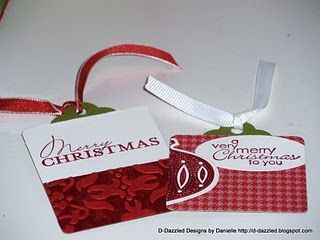 Coordinating Contempo Gift Tags: Papercrafts, Crafts Tags, Gift Tags, Christmas Tags, Craft Ideas, Paper Crafts