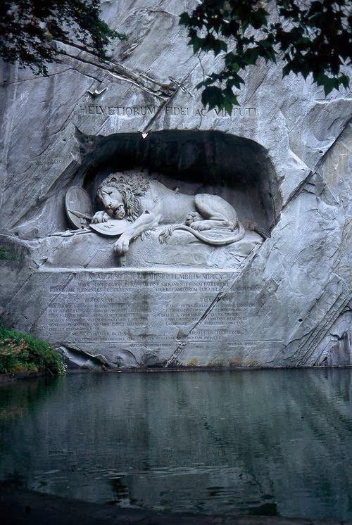 Lion of Lucerne, Switzerland