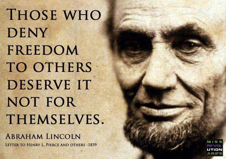 ... | Equality = | Pinterest | In the us, Freedom and Lincoln quotes