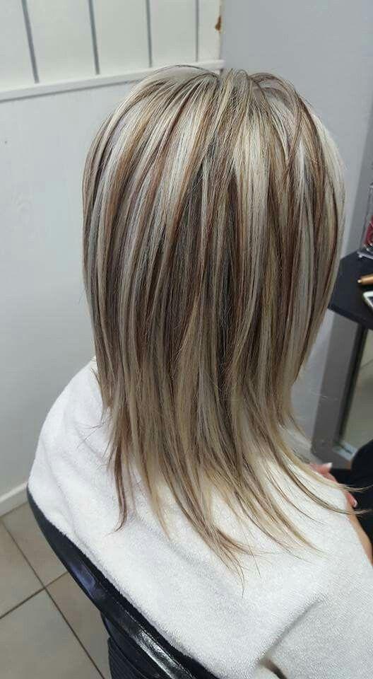 картинки с мелированием волос лесенка