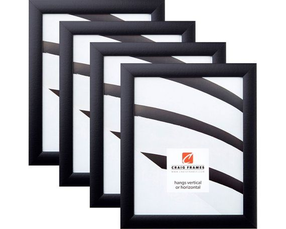 Contemporary Style Picture Frame Black Smooth Finish Frames Smaller Than 12x18 Include Glass Rigid Black Craig Frames Black Picture Frames Picture Frames