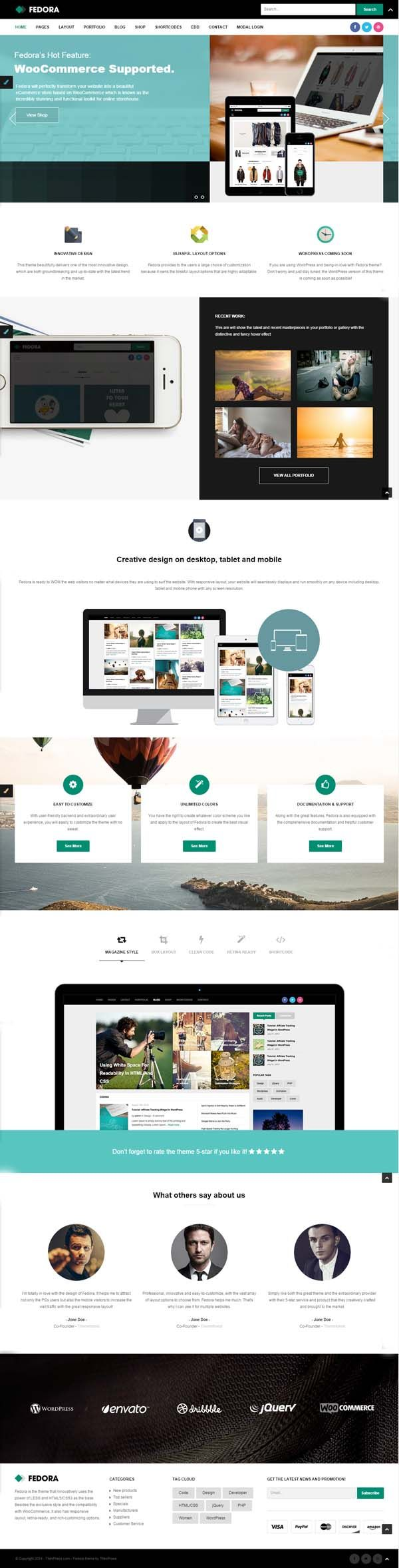 The 53 best Flat Design Website Templates images on Pinterest | Flat ...