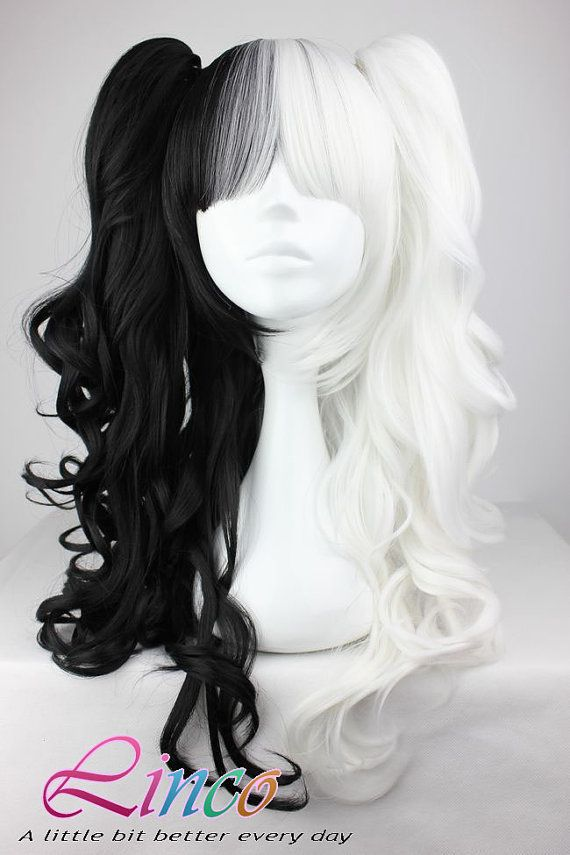 Cruella wig... http://www.etsy.com/listing/162333836/70cm-60cm-long-white-and-black-mixed?ref=shop_home_feat