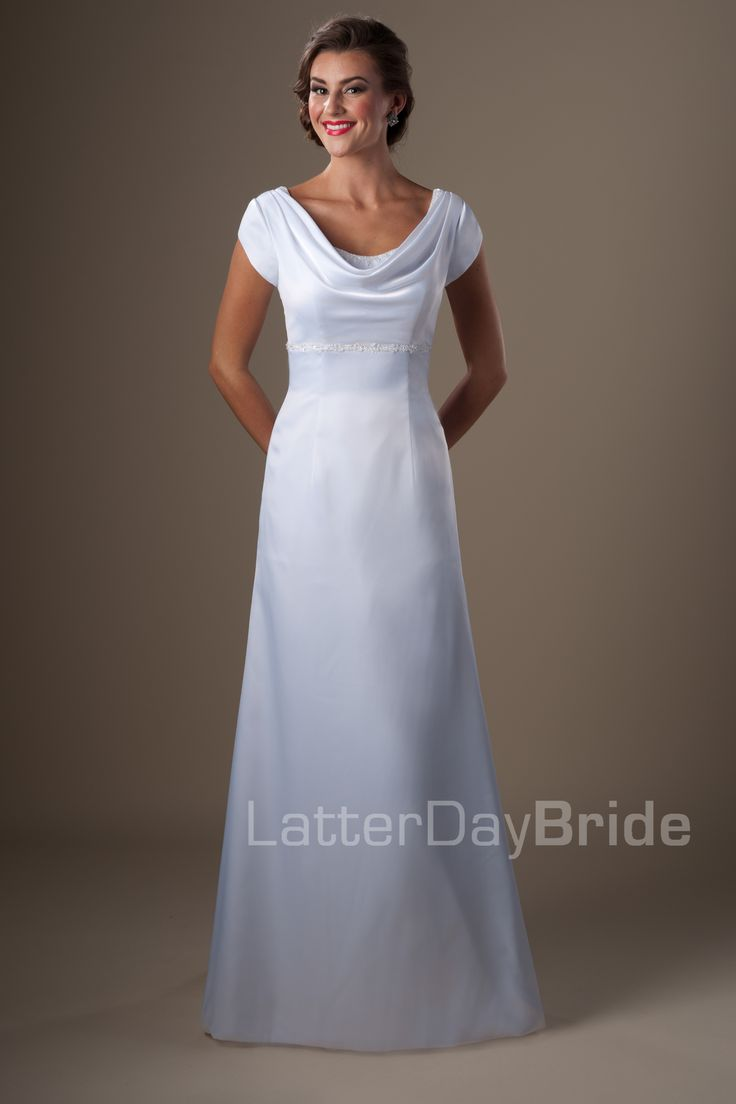Beautiful simple and modest a line dress some day for Modest wedding dresses under 500