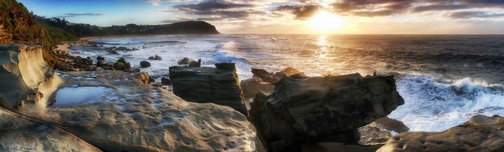 Forresters Beach Panoramic by Puresilk / 500px