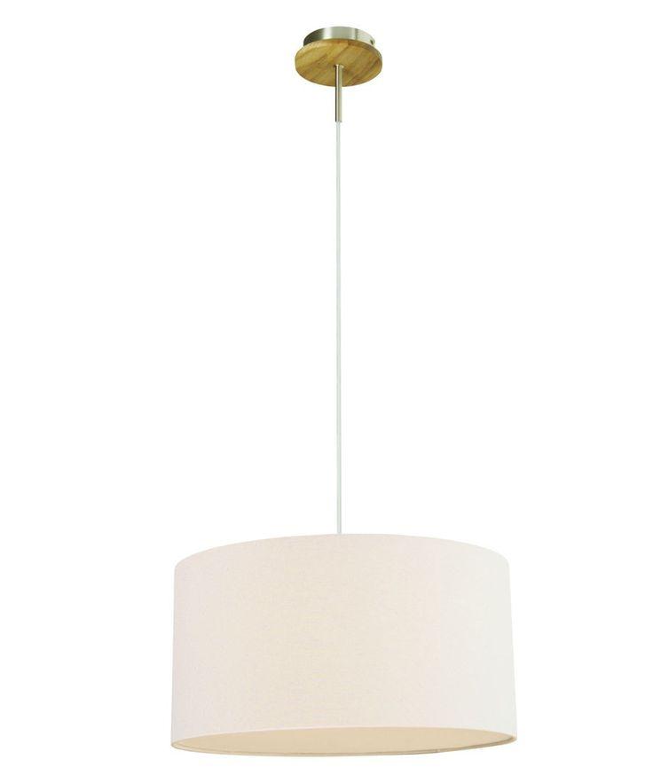 Rakel Pendant in White/Oak,Lighting,Beacon Lighting