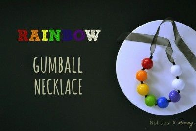 St. Patrick's Day Rainbow Gumball Necklace