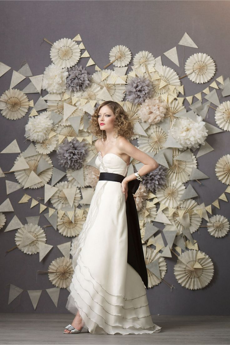 Crinkled Wheel Set (12) in Sale Just Added at BHLDN. What about some kind of backdrop somewhere that had things like this? Different color scheme.